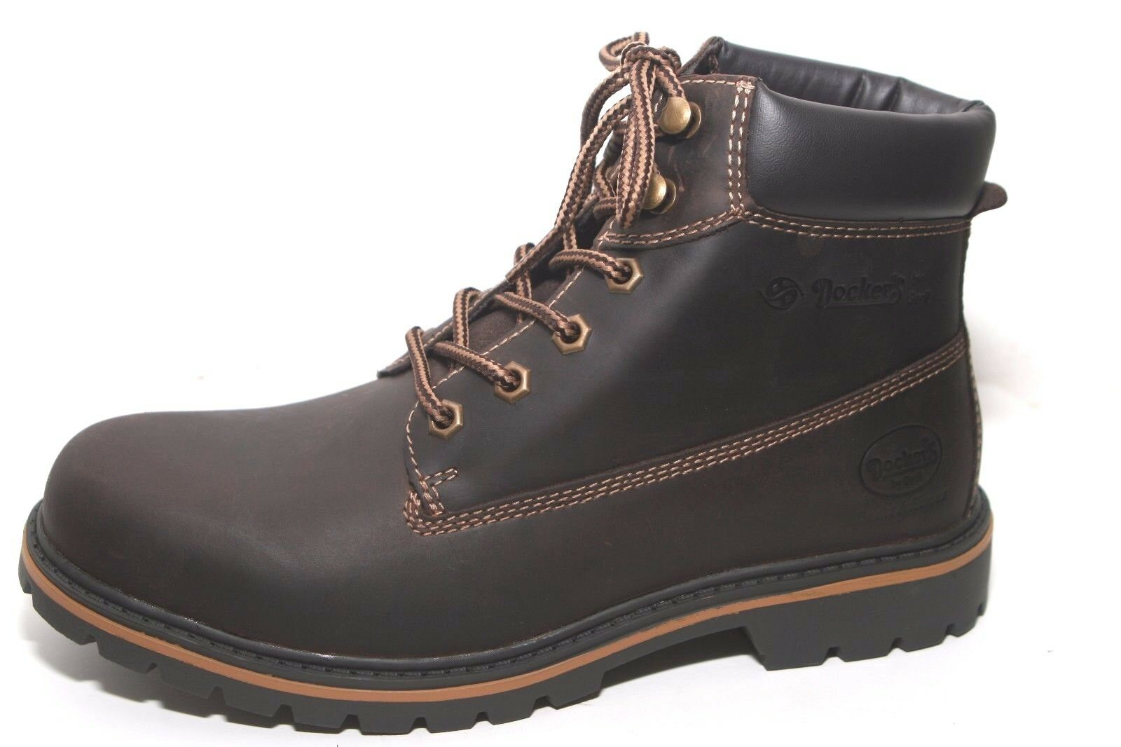 Dockers Boots Wanderschuhe Stiefel braun Warmfutter- Kunstfell Leder Herren