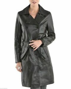 Taille 3xl Manteau Femmes Cuir Véritable Neuf