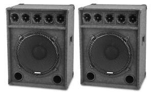 2x-ENCEINTE-DJ-PA-HAUT-PARLEUR-15-034-38CM-SONO-DISCO-CAISSON-DE-BASSES-1200W