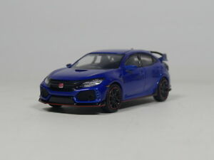 TSM-MODEL-1-64-MINI-GT-HONDA-CIVIC-TYPE-R-Blue-Right-steering-wheel