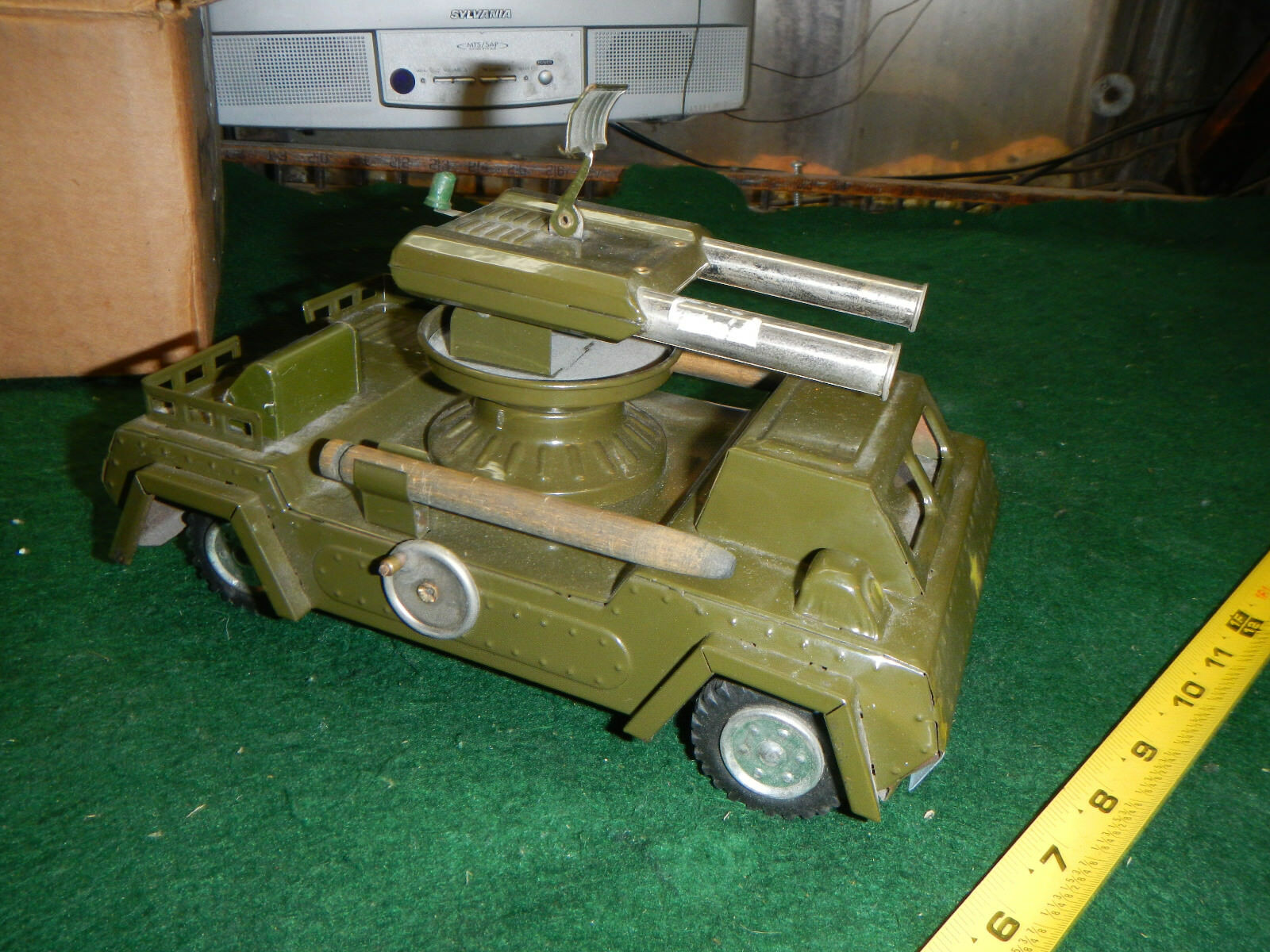 Vintage NOMURA (TN) Japan Japan Tin Friction ROCKET LAUNCHER Toy Military Tank Truck