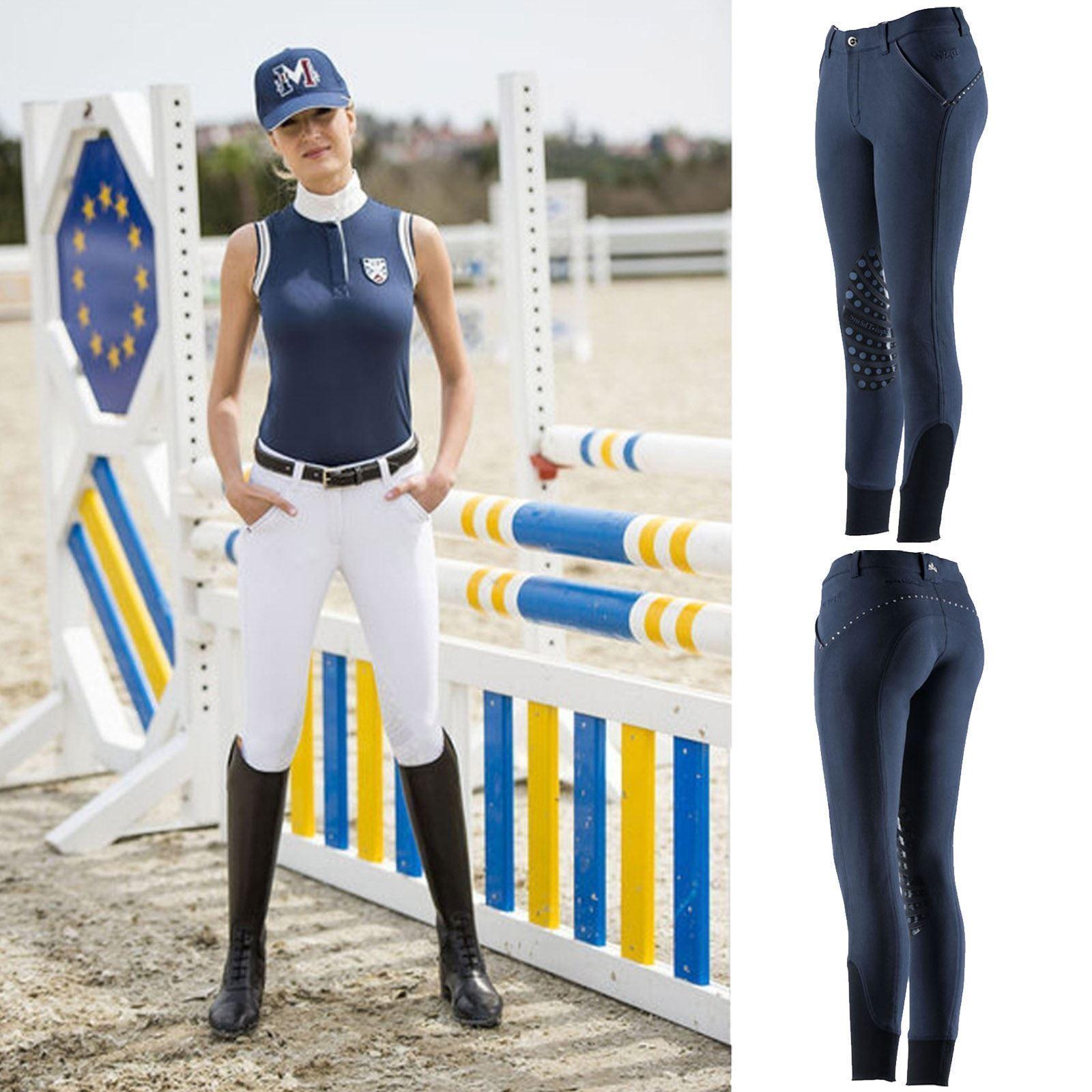Equit AM Ladies 'TERMICI Pantaloni da equitazione, donna comfort stretch equitazione