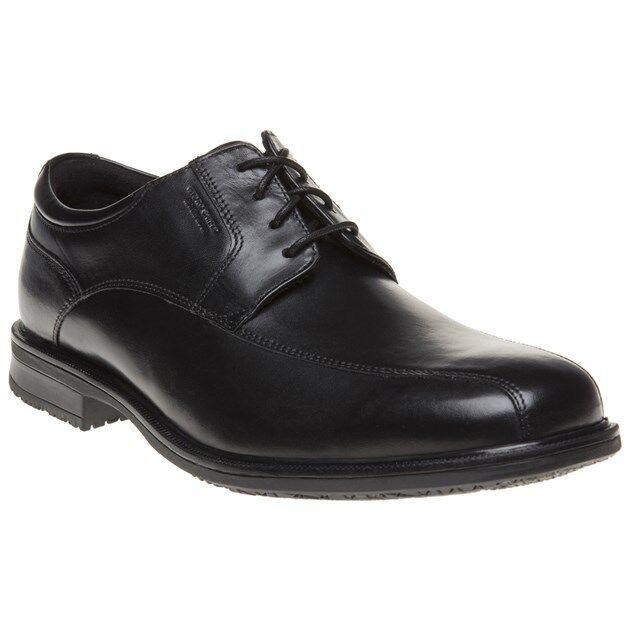 Nuevo Para Hombre Rockport Negro Cuero de buey Bicicleta de detalle esencial II Zapatos Sin taco con Cordones