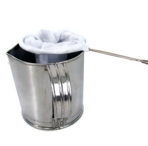 """Traditional Filter Sock Cloth Tea Coffee Strainer Handle Reusable Large 3/"""" 1 PCS"""