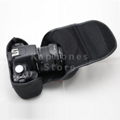 Funda suave cámara caso bolso cubierta para Canon EOS 100D 1300D 1200D 18-55mm Lente