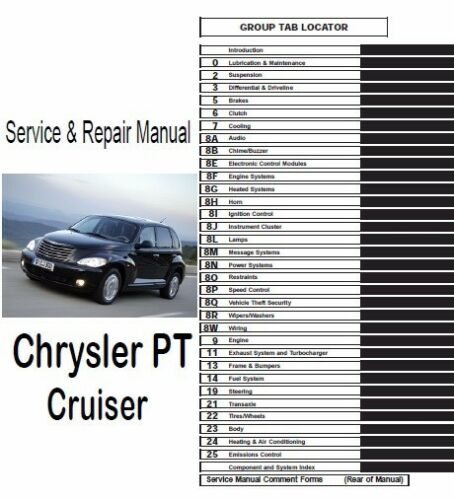 Chrysler TP Cruiser 2006 2007 2008 2009 2010 Service Repair Manual PDF