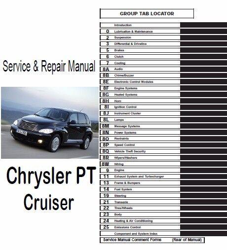 Chrysler Tp Cruiser 2006 2007 2008 2009 2010 Service