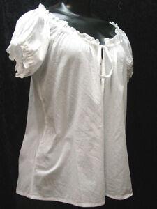 Cotton peasant blouse camisole Renaissance Victorian corset cover sizes S-XXL