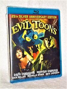 Evil Toons Blu Ray 2019 New Michelle Bauer Monique Gabrielle David Carradine 802993302006 Ebay