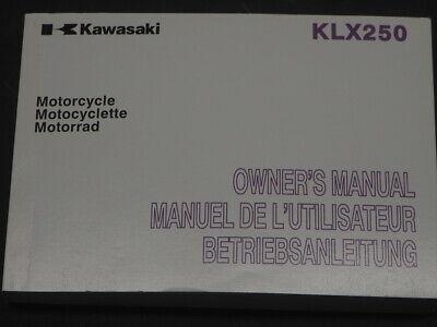 Anleitungen & Handbcher Kawasaki KLX250 KLX250S9 Motorrad ...