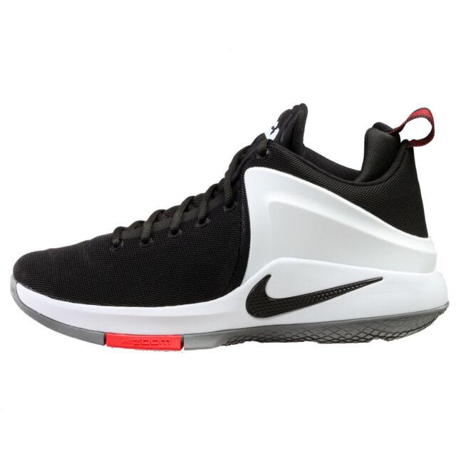 huge discount af083 44ea2 ... netherlands nike zoom witness mens 852439 003 black white lebron  basketball shoes size 10.5 d3064 3785b