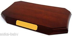Mahagoni Display Sockel Basis 20.3x10.2cm Top Verzierungen Trophäe dose