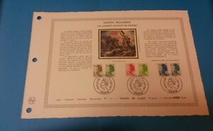 FRANCE-DOCUMENT-ARTISTIQUE-YVERT-2185-90-LIBERTE-DELACROIX-PARIS-1982-L646