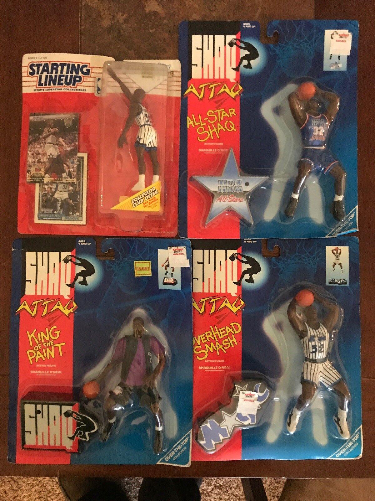 Shaquille O'Neal Figure Lot Kenner Starting Line Up Rookie 1993 Shaq Attaq