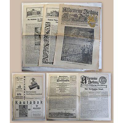 Allgemeine Zeitung Festausgabe Nordhausen Jahrtausendfeier Blatt 1927 Thüringen
