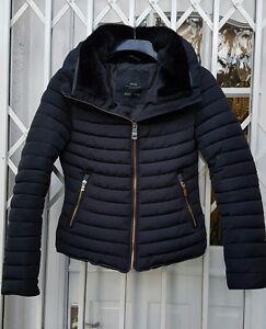 Collo Stile Taglia pelliccia popolare giacca Giacca Xs anorak in 8 Zara Navy dqBvd
