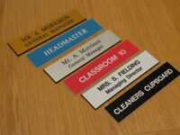 Engraved Door Name Plate 210mm x 50mm - Schools Offices Clubs, etc