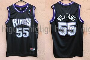 reputable site c915f bd3bf Details about NWT Jason Williams #55 NBA Sacramento Kings Swingman  Throwback Jersey Man