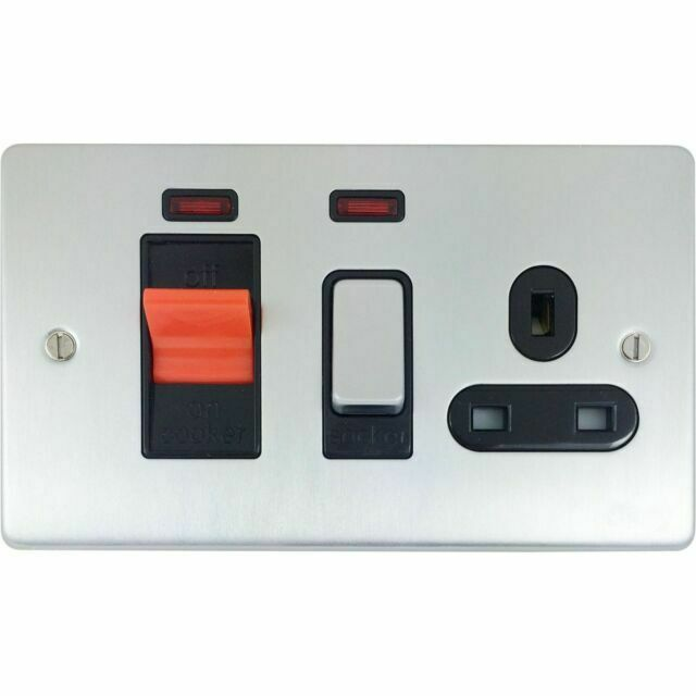 Schneider Electric Cooker Control Unit With 13a UK Socket 45a DP for sale online