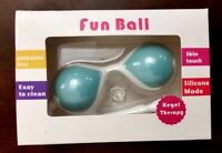 Silicone Ben Wa Kegel Balls Female Exercise Balls With Cord - Brand New-blue