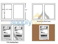 8.5x5.5 Half sheet - 400 Self Adhesive UPS UPS Fedex Shipping Packing Labels