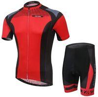 Clothing Team Jersey (Bib) Pants Set Bike Sports Cycling Jersey Suit Mens Red