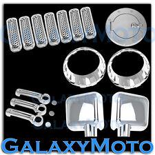 JEEP JK WRANGLER Chrome Mirror+2 Door Handle+Tailgate+Headlight+Grille+Gas Cover