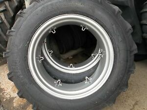 TWO-13-6X28-13-6-28-FORD-TRACTOR-8-ply-Tractor-Tires-with-6-Loop-Wheels
