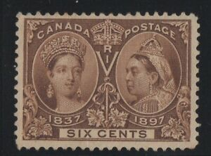 MOTON114-55-Jubilee-6c-Canada-mint-no-gum-well-centered