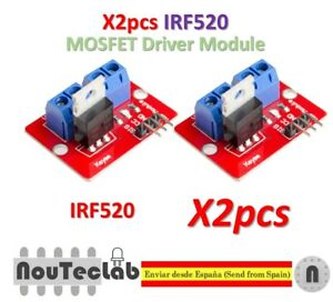 2pcs TOP MOSFET Button IRF520 MOSFET Driver Module for