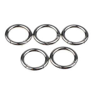5x Circle Round Carabiner Hook Keyring Buckle 28mm Snap Clips Keychain DIUK