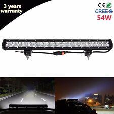 20inch 54W Slim Spot CREE LED Work Light Bar Truck 4WD SUV Driving Offroad Lamp