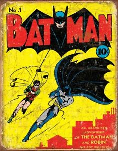 Batman-1-Cover-Vintage-Retro-Tin-Metal-Sign-13-x-16in
