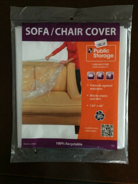 Incredible New Sealed Public Storage Clear Plastic Sofa Chair Cover 134X46 Moving Loveseat Andrewgaddart Wooden Chair Designs For Living Room Andrewgaddartcom