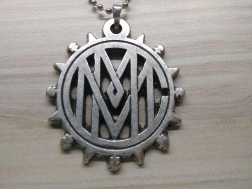 Marilyn Manson Collier 925 Plaqué Argent Modèle 3