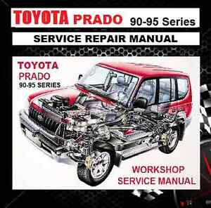 toyota prado 90 95 series 1996 2002 kzj vzj rzj kdj workshop repair rh ebay com au toyota prado 1997 owners manual toyota prado 2012 service manual
