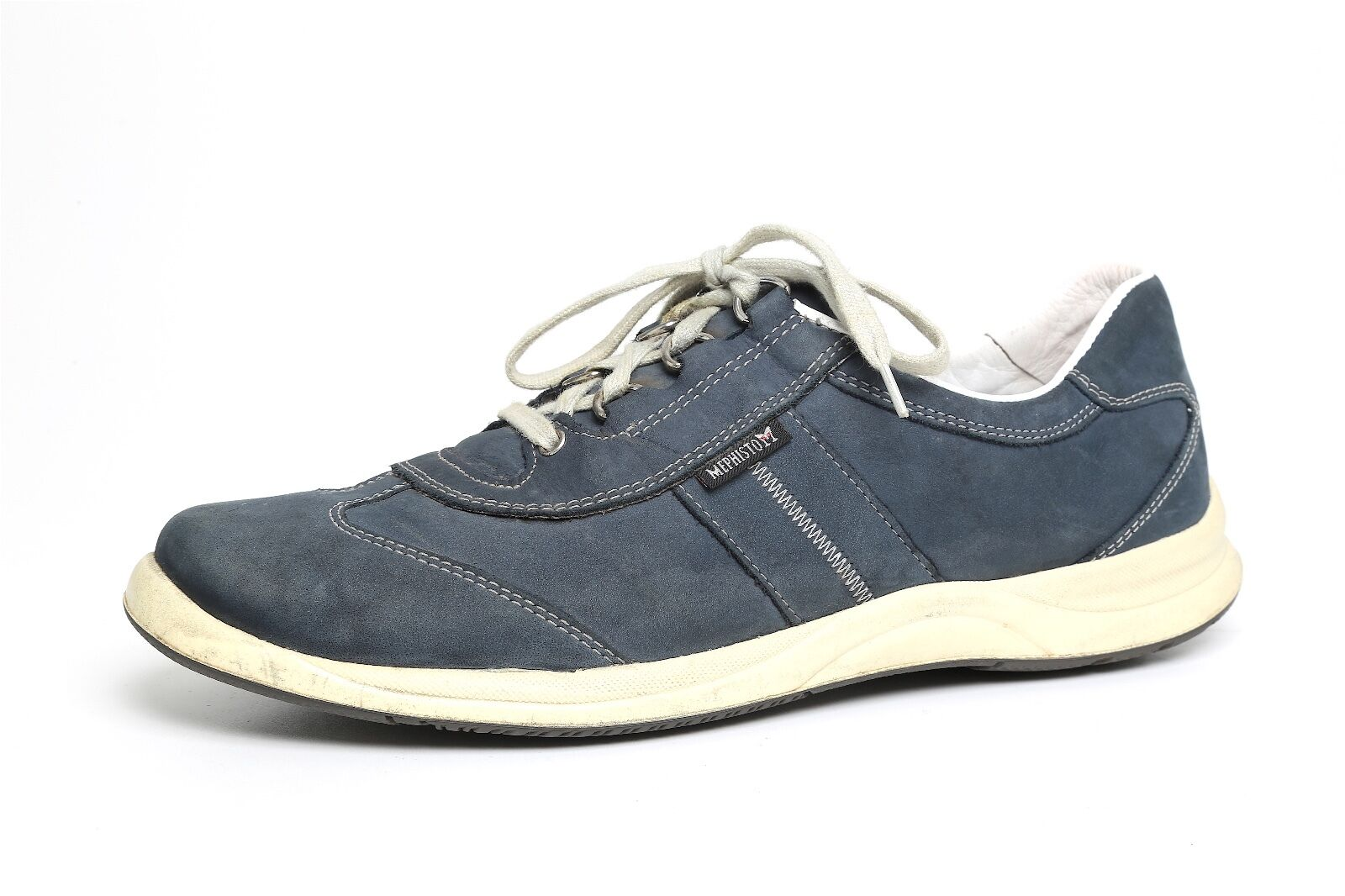Mephisto Women's Navy bluee Laser Smooth Leather Sneakers 2220 Sz 9.5 US 7 EUR