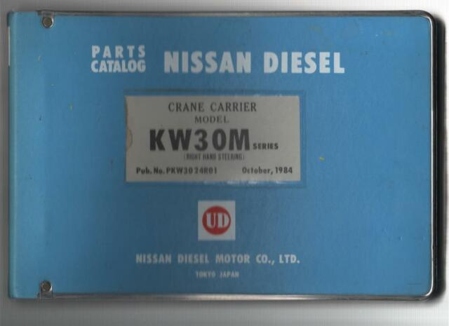 Nissan Diesel Crane Carrier Model Kw30m Series Illustrated Parts Catalogue