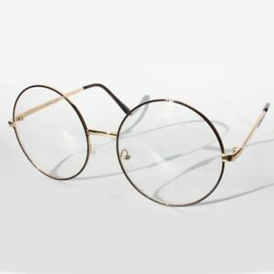 fcde07bcd4 Vintage Retro Clear Lens Metal Oversized Circle Round Glasses Frames ...