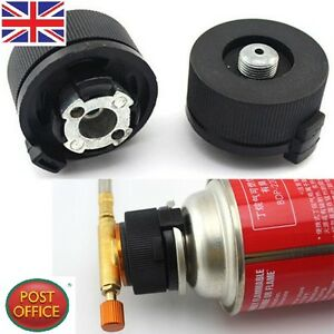 Picnic Burner Cartridge Gas Fuel Canister Stove Cans Adapter Converter Head CL