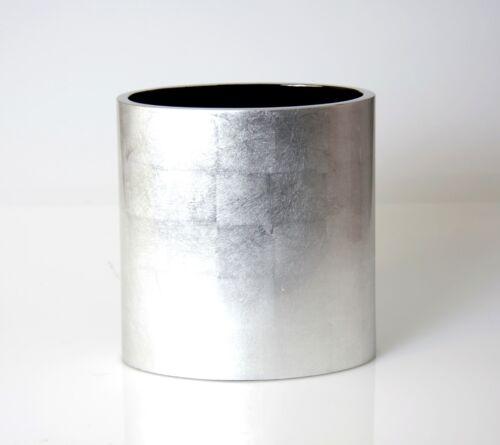 Papierkorb Holz Pianolack 25 cm hoch Oval LAQ Design