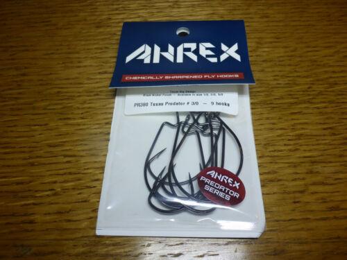 8 x AHREX PR380 #3//0 TEXAS PREDATOR BIG STREAMER HOOKS NEW FLY TYING MATERIALS