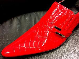 100/% Chelsy Top Italienischer Designer Slipper Wellenmuster handmade rot