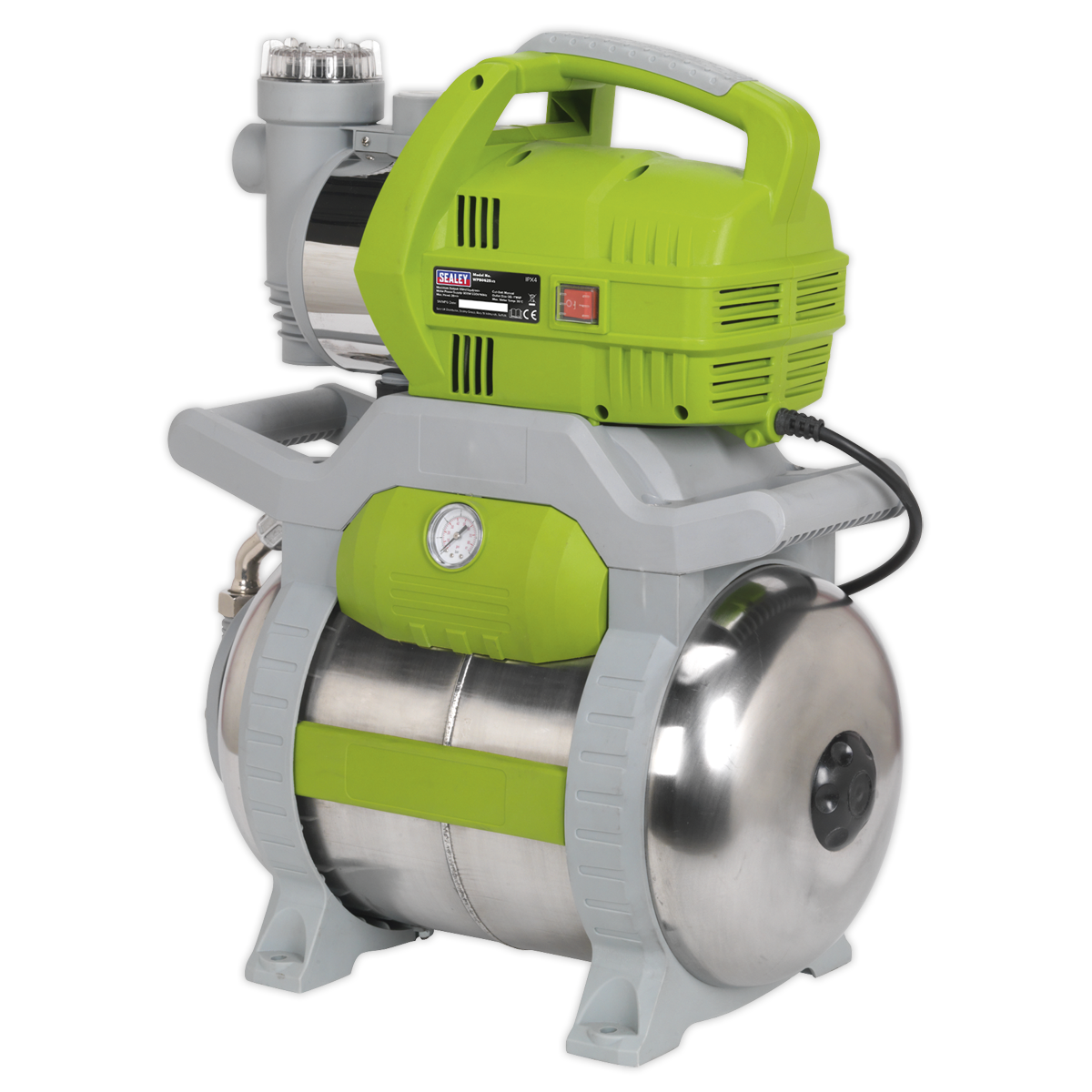 Sealey Wpb062S Surface Mounting Booster Pump Stainless Steel 62Ltr/Min 230V