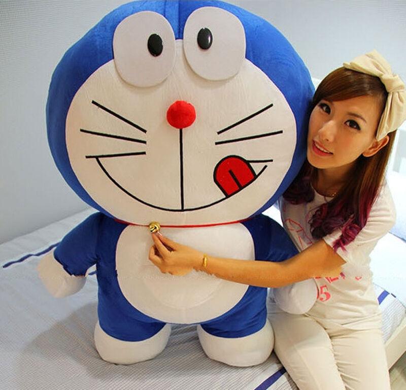 Doraemon Big Stuffed Cartoon 80cm Plush Toy 2.6ft Doll Cushion Kid Birthday Gift