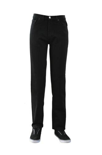 Men/'s Classic 5 Pocket Western Nero Jeans Regular Gamba Dritta Jeans Lavoro