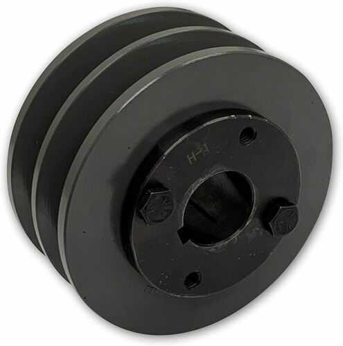 """TWO GROOVE FOR B CAST IRON ELECTRIC MOTOR PULLEY SHEAVE 5.75/"""" 5L BELTS BX"""