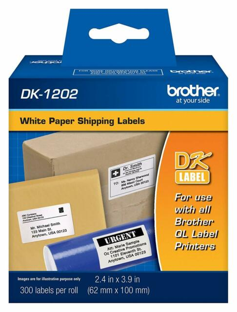 """BPA FREE DK-1202 for Brother-Compatible Shipping Labels Die-Cut 2.4/"""" x 3.9/"""""""