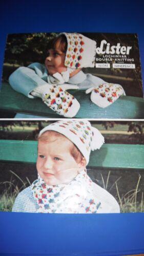 Lister LEE Target Niños Guantes Bonnet CA /& Bufanda Tejer patrón 1342