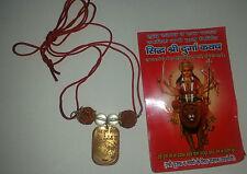 Good Luck Hindu Talisman Protection Amulet Shiri Durga Kavach Necklace Rudraksha